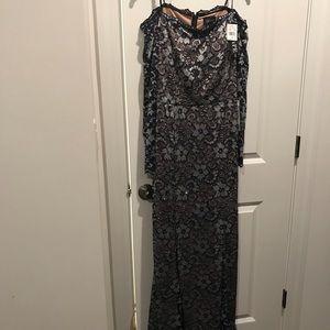 Xscape off the shoulder evening dress